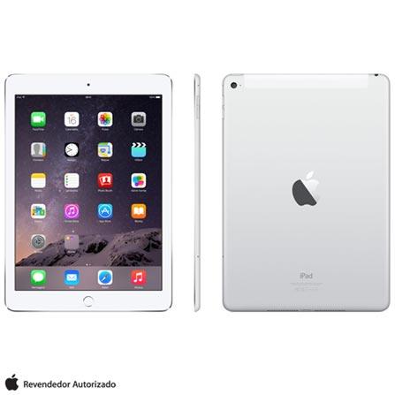 """iPad Air 2 Prata com 9.7"""", 4G e Wi-Fi, iOS 8, Processador A8X, 64 GB, Bivolt, Bivolt, Prata, 0000009.70, 000064, 1, N, APPLE, 003412, A8X, iOS, 0000009.70, I, Nano Chip, 8.0 MP, 64 GB, Wi-Fi + 4G, 12 meses, Até 10''"""