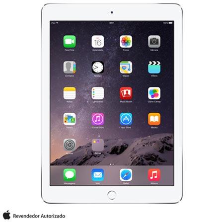 """iPad Air 2 Prata com 9,7"""", Wi-Fi, iOS 8, Processador A8X e 64 GB, Bivolt, Bivolt, Prata, 0000009.70, 000064, 1, N, APPLE, 003412, A8X, iOS, 0000009.70, Sim, 8.0 MP, 64 GB, Wi-Fi, 12 meses, Sim, Sim, A8X, Não, iOS, Até 10'', 9.7'', LED Touchscreen, Não"""