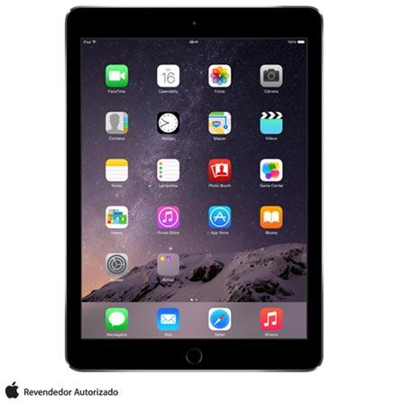 """iPad Air 2 Cinza com 9,7"""", Wi-Fi, iOS 8, Processador A8X e 16 GB, Bivolt, Bivolt, Cinza, 0000009.70, 000016, 1, N, APPLE, 003412, A8X, iOS, 0000009.70, Sim, 8.0 MP, 16 GB, Wi-Fi, 12 meses, Sim, Sim, A8X, Não, iOS, Até 10'', 9.7'', LED Touchscreen, Não"""