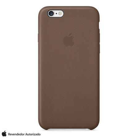 Capa para iPhone 6 Plus de Couro Marrom Apple - MGQR2ZM/A, Marrom, Capas e Protetores, 12 meses