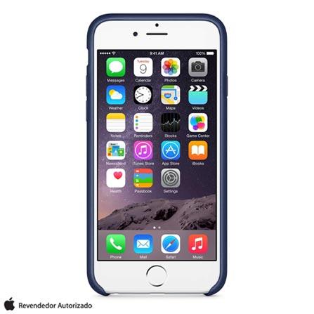 Capa para iPhone 6 Plus de Couro Azul Marinho Apple - MGQV2ZM/A, Azul, Capas e Protetores, 12 meses