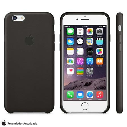 Capa para iPhone 6 Plus de Couro Preta Apple - MGQX2ZM/A, Capas e Protetores, 12 meses