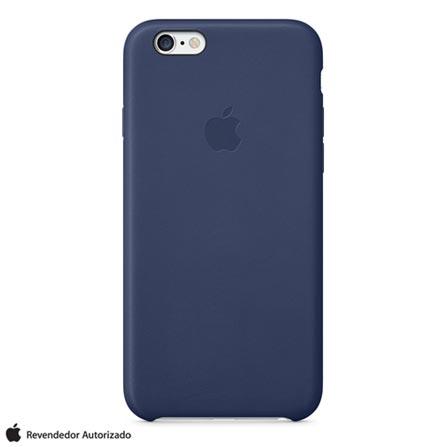 Capa para iPhone 6 de Couro Azul Marinho Apple - MGR32ZM/A, Azul, Capas e Protetores, 12 meses