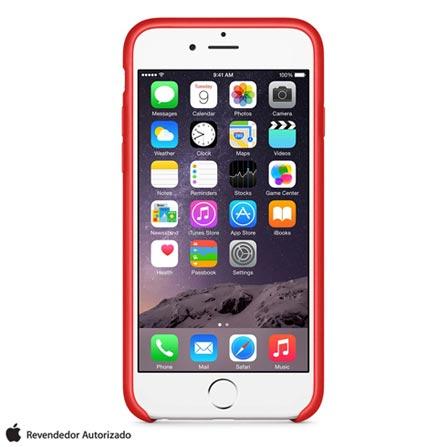 Capa para iPhone 6 de Couro Vermelha Apple - MGR82ZM/A, Vermelho, Capas e Protetores, 12 meses