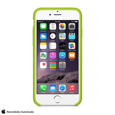 Capa para iPhone 6 de Silicone Verde Apple - MGXU2ZM/A, Verde, Capas e Protetores, 12 meses