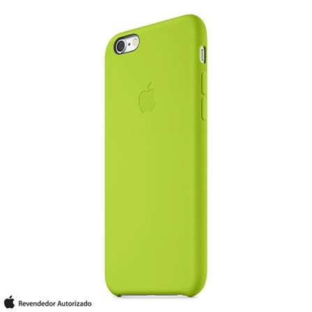 Capa Protetora para iPhone 6 de Silicone Verde Apple - MGXX2ZMA, Verde, Capas e Protetores, 12 meses