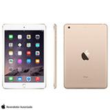 """iPad Mini 3 Dourado com 7.9"""", Wi-Fi, iOS 8, Processador A7 e 128 GB"""