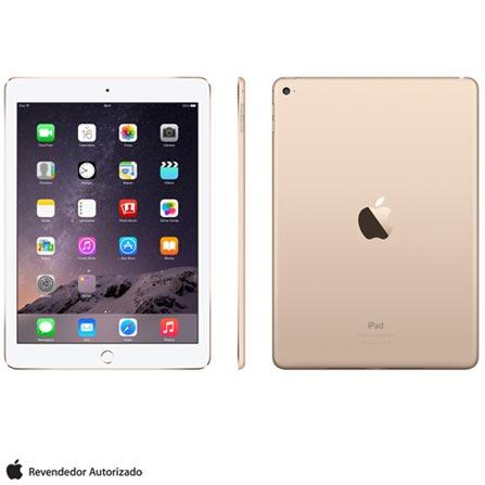 """iPad Air 2 Dourado com 9,7"""", Wi-Fi, iOS 8, Processador A8X e 64 GB, 110V, 220V, Bivolt, Bivolt, Dourado, 0000009.70, 000064, 1, N, APPLE, 003412, A8X, iOS, 0000009.70, Sim, 8.0 MP, 64 GB, Wi-Fi, 12 meses, Sim, Sim, A8X, Não, iOS, Até 10'', 9.7'', Não"""