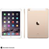 """iPad Air 2 Dourado com 9.7"""", 4G e Wi-Fi, iOS 8, Processador A8X, 16 GB"""