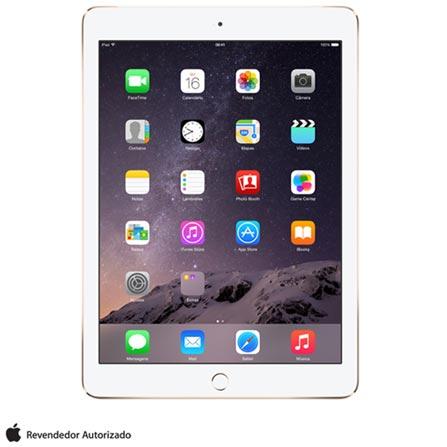 """iPad Air 2 Dourado com 9.7"""", 4G e Wi-Fi, iOS 8, Processador A8X, 16 GB, Bivolt, Bivolt, Dourado, 0000009.70, 000016, 1, N, APPLE, 003412, A8X, iOS, 0000009.70, I, Nano Chip, 8.0 MP, 16 GB, Wi-Fi + 4G, 12 meses, Até 10''"""