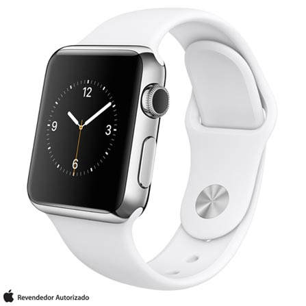 Apple watch 38 mm prata com pulseira branca preto 38 mm watchos no especificado 8 gb no thecheapjerseys
