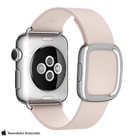 Apple Watch Prata com Pulseira G Rosa, 38 mm, Wi-Fi, Bluetooth e 8 GB, Prata, 38 mm, watchOS, Não especificado, 8 GB, Não, 12 meses
