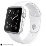 Apple Watch Sport Prata com Pulseira Esportiva Branca, 42 mm, Wi-Fi, Bluetooth e 8 GB