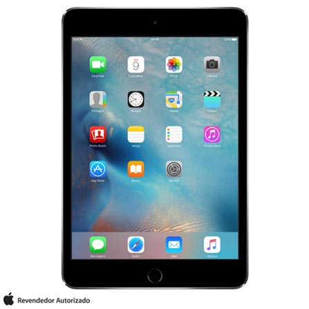 """iPad Mini 4 Cinza com 7,9"""", Wi-Fi, iOS 9, Processador A8 e 16 GB, Cinza, 0000007.90, 000016, 1, N, APPLE, 126310, A8, iOS, 0000007.90, Sim, 8.0 MP, 16 GB, Wi-Fi, 12 meses, Não, Sim, A8, Não, iOS, Até 10'', 7.9'', LED Touchscreen, Não"""