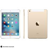 """iPad Mini 4 Dourado com 7,9"""", Wi-Fi, 4G, OS 9.0, Processador A8 e 16GB"""
