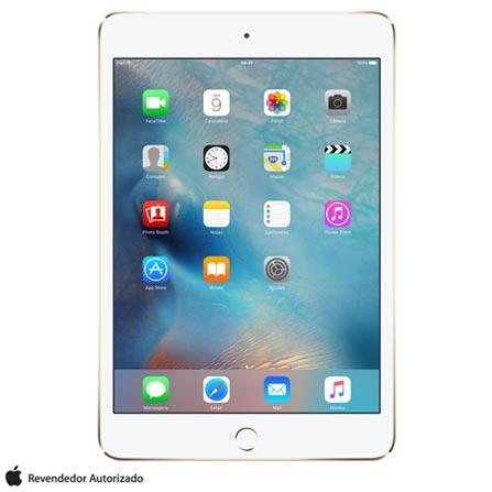 """iPad Mini 4 Dourado com 7,9"""", Wi-Fi, 4G, iOS 9.0, Processador A8 e 128GB, Dourado, 0000007.90, 000128, 1, N, APPLE, 003412, A8, iOS, 0000007.90, I, Nano Chip, 8.0 MP, 128 GB, Wi-Fi + 4G, 12 meses, Até 10''"""