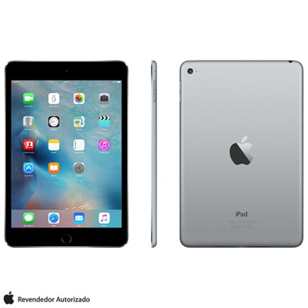 Tablet Apple Ipad Mini 4 Mk9n2bz/a Cinza 128gb Wi-fi