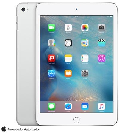 """iPad Mini 4 Silver com 7,9"""", Wi-Fi, iOS 9, Processador A8 e 128 GB, Prata, 0000007.90, 000128, 1, N, APPLE, 126310, A8, iOS, 0000007.90, Sim, 8.0 MP, 128 GB, Wi-Fi, 12 meses, Não, Sim, A8, Não, iOS, Até 10'', 7.9'', LED Touchscreen, Não"""