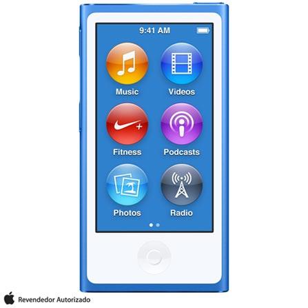 iPod Nano com 16 GB Azul, Bivolt, Bivolt, Azul, 16 GB, iPod Nano