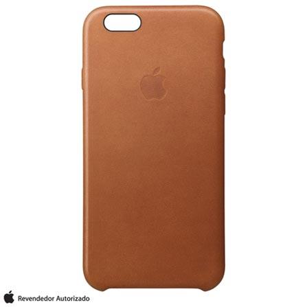 Capa para iPhone 6s Plus em Couro Castanho - Apple - MKXC2BZA, Marrom, Capas e Protetores, 12 meses