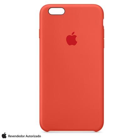 Capa para iPhone 6s Plus em Silicone Laranja - Apple - MKXQ2BZA, Laranja, Capas e Protetores, 12 meses