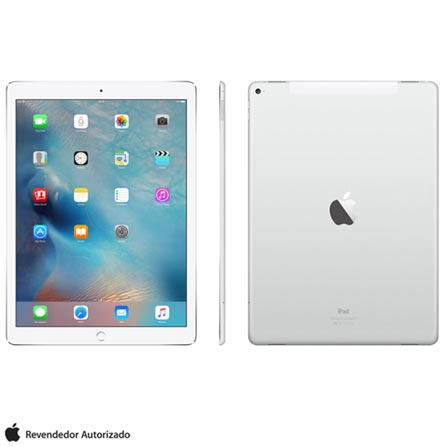 "iPad Pro Silver com 12,9"", 4G, iOS, Processador A9X e 128 GB, Prata, 0000012.90, 000128, 1, N, APPLE, 003412, A9X, iOS, 0000012.90, I, Nano Chip, 8.0 MP, 128 GB, Wi-Fi + 4G, 12 meses, Acima de 10''"