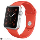 Apple Watch Sport Prata com Pulseira Laranja, 42 mm, Wi-Fi, Bluetooth e 8 GB