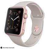 Apple Watch Sport Rosa com Pulseira Cinza, 42 mm, Wi-Fi, Bluetooth e 8 GB