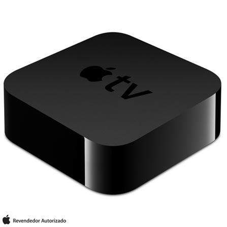 Apple TV com 64 GB e Processador A8 Preto - Apple - MLNC2BZA, Bivolt, Bivolt, Preto, Apple TV, 12 meses