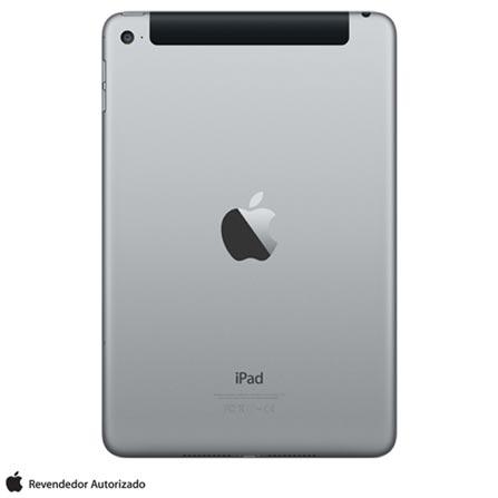 """iPad 4 Mini Cinza Espacial com Tela de 7,9"""", 4G, 32 GB e Processador A8 - MNWE2BZ/A, Bivolt, Bivolt, Cinza, 0000007.90, 000032, 1, N, APPLE, 126310, A8, iOS, 0000007.90, I, Nano Chip, Sim, 8.0 MP, 32 GB, Wi-Fi + 4G, 12 meses, Sim, Sim, A8, Não, iOS, Até 10'', 7.9'', Retina, Não"""