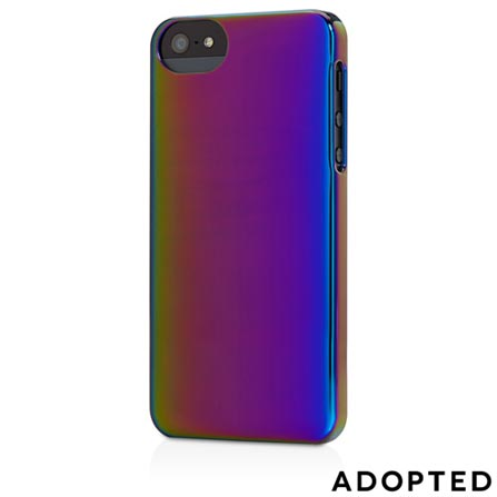 Capa para iPhone 5 Plástico Rígido Azul e Roxa - Adopted - APH11124, Azul e Roxo, Capas e Protetores, 12 meses