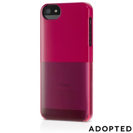 Capa de Plástico Rígido para iPhone 5 Cranberry - Adopted - APH11130, Rosa, Capas e Protetores, 12 meses