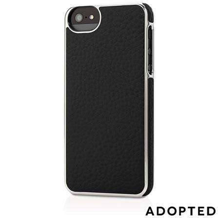 Capa para iPhone 5 de Couro Preta e Prata - Adopted - APH11144, Preto e Prata, Capas e Protetores, 12 meses