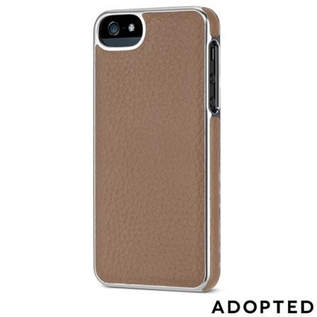 Capa Protetora para iPhone 5 em Couro Marrom e Prata - Adopted - APH11148, Marrom e Prata, Capas e Protetores, 12 meses
