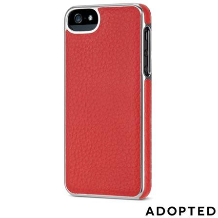 Capa Protetora para iPhone 5 em Couro Laranja e Prata - Adopted - APH11150, Laranja e Prata, Capas e Protetores, 12 meses