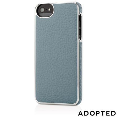 Capa para iPhone 5 em Couro Azul e Prata - Adopted - APH11154, Azul e Prata, Capas e Protetores, 12 meses