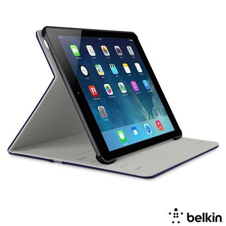 Capa Folio para iPad Air com Fecho Magnético Roxa - Belkin - F7N060B1C02, Roxo
