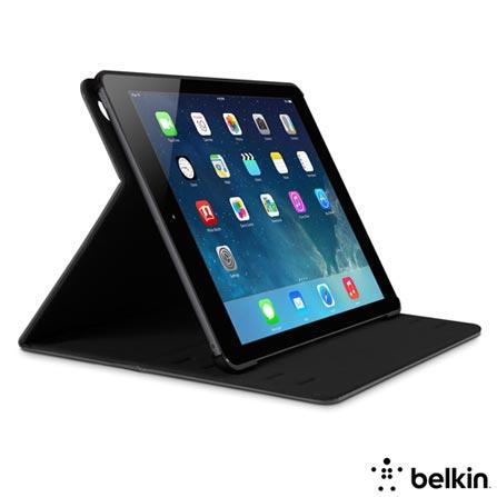 Capa para iPad Air Folio Stone Cinza - Belkin - F7N064B1C01, Cinza