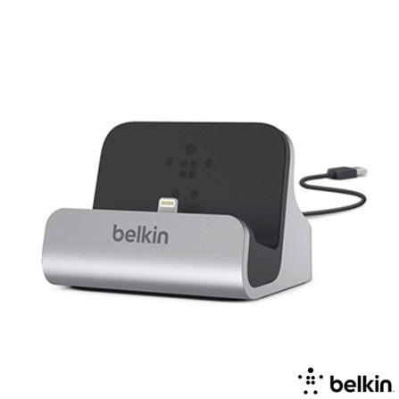 Dock Belkin para iPhone 5, 5s, 5c Prata e Preto, Prata e Preto