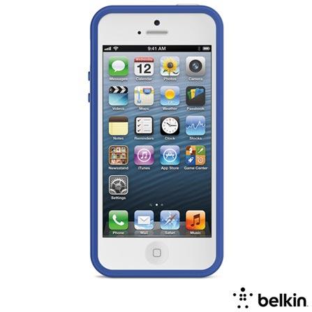 Capa para iPhone 5s Max Branca e Azul - Belkin - F8W161TTC14, Branco e Azul, 12 meses
