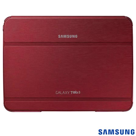 Capa Dob Sup para Tab III 10 Vinho - Samsung - EFBP520BREGWWI, Vinho, Couro Sintético, 03 meses