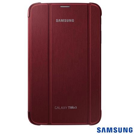 Capa Dob Sup para Tab III 8 Vinho - Samsung - EFBT310BRE, Vinho, TPU e couro sintético, 03 meses