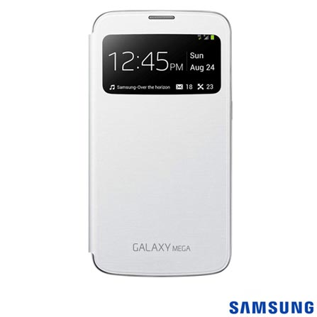 Capa Flip Cover S-View Branca Galaxy Mega 6.3 - C8SGEFCI920BWE, Branco, 03 meses