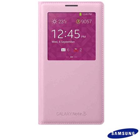 Capa para Samsung Galaxy Note 3 S View Rosa - Samsung - EFCN900BP, Rosa, Capas e Protetores, TPU e couro sintético, 03 meses