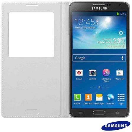 Capa Protetora S View para Galaxy Note 3 Samsung Branca - EFCN900BW, Branco, Capas e Protetores, 03 meses