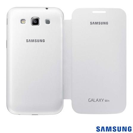 Capa para Galaxy Win Flip Branca Samsung - C8SGEFFI855BWE, Branco, Capas e Protetores, 03 meses