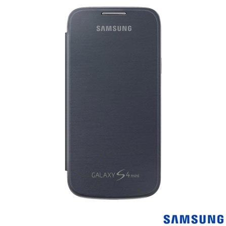 Capa para S4 Mini Flip Cover Grafite - Samsung - EFFI919BBEGWWI, Grafite, Capas e Protetores, 03 meses