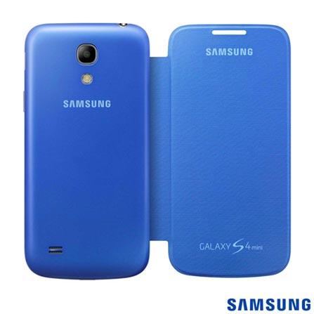 Capa para S4 Mini Flip Cover Azul Samsung - EFFI919BCEGWWI, Azul, Capas e Protetores, 03 meses