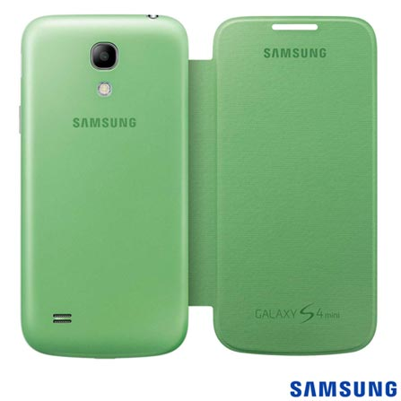 Capa Samsung Flip Cover Verde para S4 Mini, Verde, 03 meses