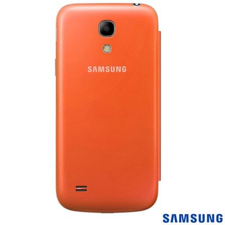 Capa Flip Cover para Galaxy S4 Mini Laranja - Samsung - EFFI919BOEGWWI, Laranja, Plástico, 03 meses